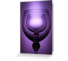Purple glass still life Greeting Card
