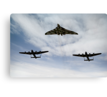 Three Avro bombers Canvas Print