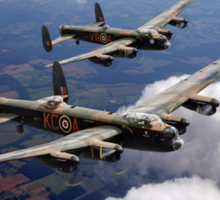 Two Lancasters on tour Sticker