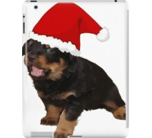 Cute Merry Christmas Puppy In Santa Hat iPad Case/Skin