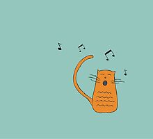 Singing Cat by englandesigns