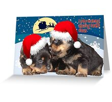 Puppy Christmas: I saw Mummy Kissing Santa Claus Greeting Card