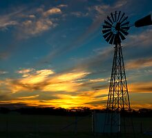 Sunset near Geranium, South Australia by Matt Harvey