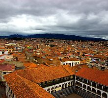 Rooftops Of Cuenca IV by Al Bourassa