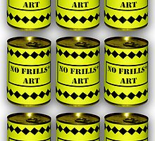 No Frills* Art cans (Face Up)  by nofrillsart
