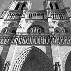 Western Facade of Notre Dame by Alex Cassels