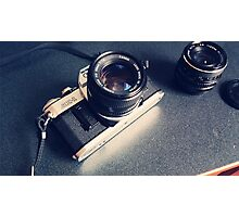 Vintage Camera with Lens Photographic Print