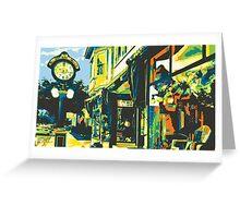 Armbruster Clock & Storefront - Cedarburg WI (bold) Greeting Card