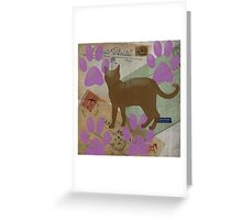 Cat Travels Too Greeting Card