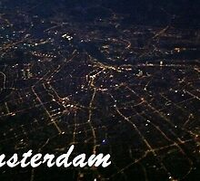 Amsterdam from above at night by Schuurman050