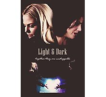 """Once Upon a Time - Swan Queen """"Light & Dark"""" Photographic Print"""