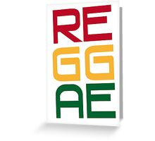 REGGAE Greeting Card