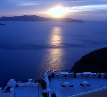 Santorini Sunset, Greece by Lana Callaby