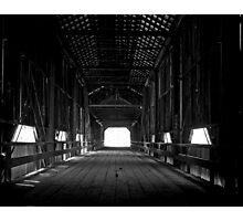 Old covered bridge in Chico California Photographic Print