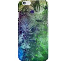 Frozen abstract crystal ice painting blue green purple white iPhone Case/Skin