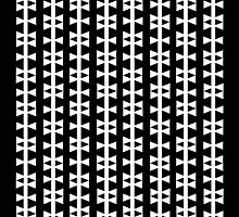Bows - bold striped pattern of black and white bows by charlottewinter