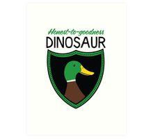Honest-To-Goodness Dinosaur: Duck (on light background) Art Print