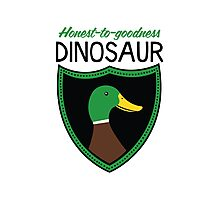 Honest-To-Goodness Dinosaur: Duck (on light background) Photographic Print