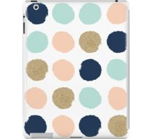 Wren - Brush strokes in modern colors turquoise, mint, navy, blush  iPad Case/Skin