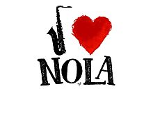 I Heart New Orleans (remix) by Tai's Tees Photographic Print