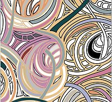 Abstract graphic with colorful shapes and textures by tanabe