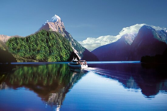 Mirror Of Milford Sound by phil decocco