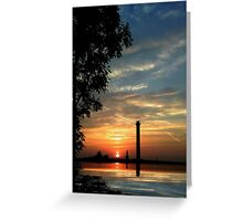 Last moments before sunset Greeting Card