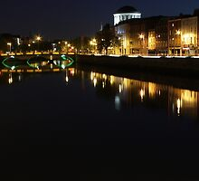 Dublin's brige in the night by bejelith