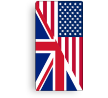 American and Union Jack Flag Canvas Print