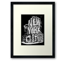 New York City Pencil by Tai's Tees Framed Print