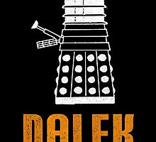 Retro Dalek - For Black/Dark Background by Mystalope