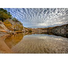 Blue Lake - St Bathans reflections Photographic Print