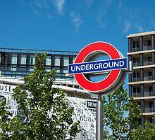 London underground sign on a bright sunny day by stuart renneberg