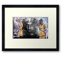 Kobe Bryant - BLACK MAMBA 24 Framed Print