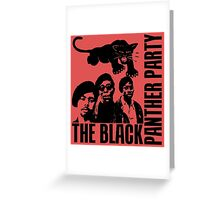 BLACK PANTHER PARTY Greeting Card