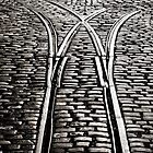 Abandoned Tram lines, Guiness Brewery, St Jame's Gate, Dublin. by 2cimage
