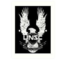 UNSC LOGO HALO 4 - GRUNT DISTRESSED LOOK Art Print