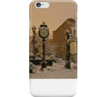 Snowy Christmas scene Historic St Charles MO iPhone Case/Skin