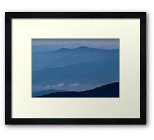 The Far Blue Mountains Framed Print