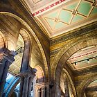 A ceiling at the Natural History Museum, London, England by Jim Lovell