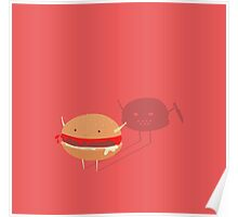 Fast fat food Poster
