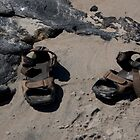 sandals on the beach by etccdb