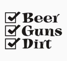 BEER GUNS DIRT Checklist by thatstickerguy