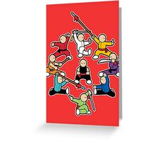 The Wushu Family Greeting Card