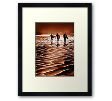 Surfin' fun Framed Print