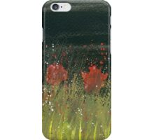 Poppies at night iPhone Case/Skin