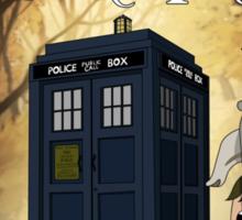 Over The Doctor's Tardis Sticker