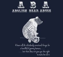 ABA - Circus Bear - Dark Background by Sparrow Rose Jones