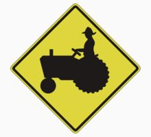 Farm Tractor Crossing sign  Kids Clothes