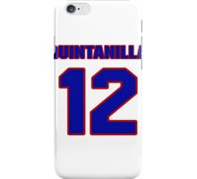 National baseball player Omar Quintanilla jersey 12 iPhone Case/Skin